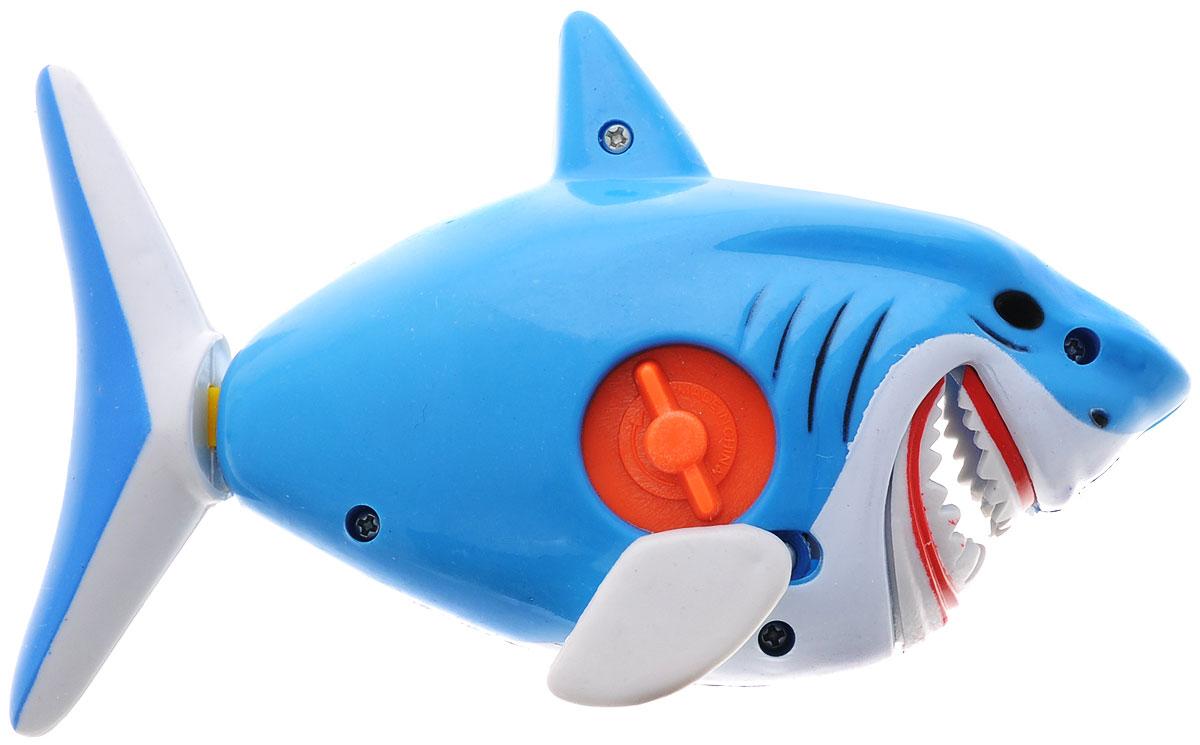 1TOY Игрушка для ванной Буль-Буль АкулаТ57413Заводная игрушка Буль-Буль. Акула обрадует вашего малыша во время купания и сделает этот порой нелегкий процесс приятным и веселым. У акулы шевелятся плавники и хвост, открывается челюсть. Механическая игрушка быстро плавает по поверхности воды. Даже ребенку легко завести акулу с помощью встроенного ключика. Данная игрушка не только развеселит вашего малыша, но и поможет развить мелкую моторику.