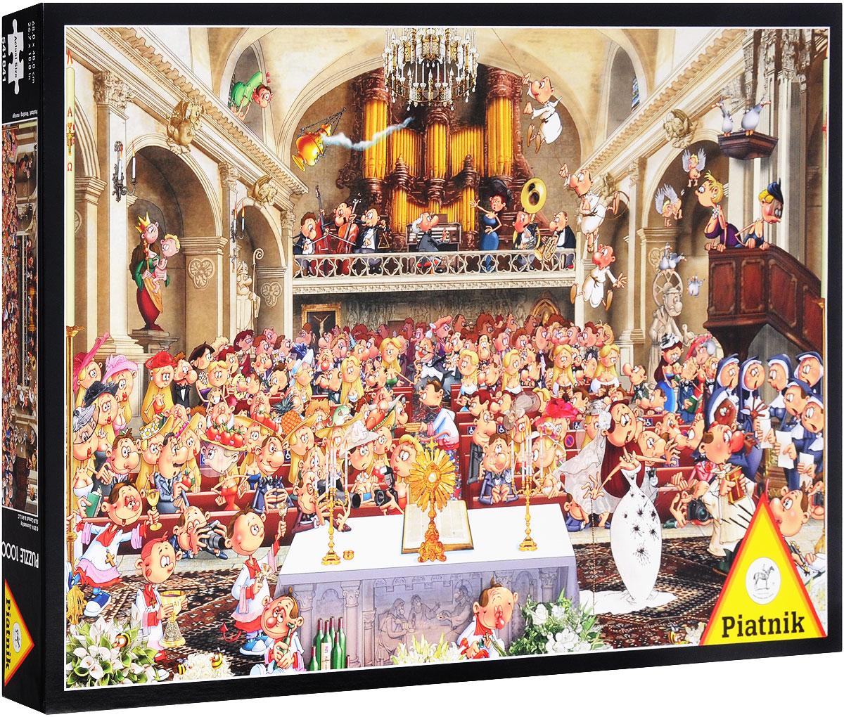 Piatnik Пазл Свадьба - Piatnik541841Пазл Piatnik Свадьба станет хорошим подарком всем любителям пазлов и головоломок! Собрав этот пазл, включающий в себя 1000 элементов, вы получите яркую картинку, выполненную известным французским художником-иллюстратором Франсуа Руйе. Чтобы справиться с задачей вам будет необходимо приложить немалую долю внимания и терпения. Вы сразу поймете, подходят ли детали друг к другу, за счет уникальной формы каждого элемента. А качественный материал не позволит картине потускнеть с течением времени. Собирание пазла - это увлекательное, познавательное занятие, а также прекрасное времяпрепровождение для всей семьи. Размер готового пазла: 68 см х 48 см.