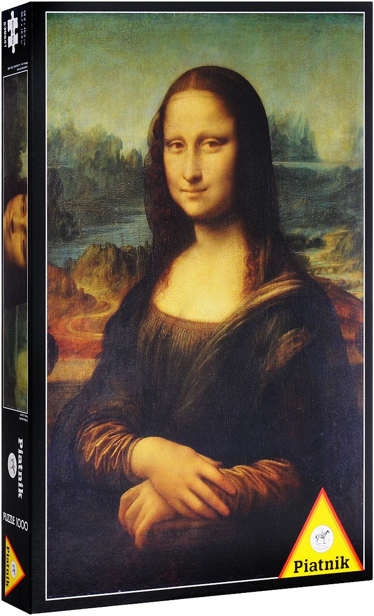 Piatnik Пазл Мона Лиза539541Пазл Piatnik Мона Лиза станет хорошим подарком всем любителям пазлов и головоломок! Собрав этот пазл, включающий в себя 1000 элементов, вы получите репродукцию знаменитой картины Леонардо Да Винчи Мона Лиза. Чтобы справиться с задачей вам будет необходимо приложить немалую долю внимания и терпения. Вы сразу поймете, подходят ли детали друг к другу, за счет уникальной формы каждого элемента. А качественный материал не позволит картине потускнеть с течением времени. Собирание пазла - это увлекательное, познавательное занятие, а также прекрасное времяпрепровождение для всей семьи. Размер готового пазла: 68 см х 48 см.
