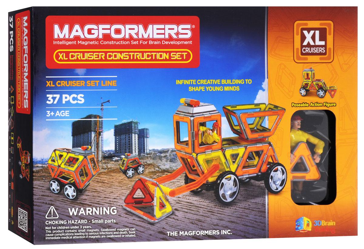 Magformers Магнитный конструктор XL Cruiser Construction Set63080/706003Магнитный конструктор Magformers XL Cruiser Construction Set откроет вашему малышу все радости строительной профессии. Если маленькому фантазеру уже исполнилось три года, пора сделать ему этот замечательный подарок! Набор предназначен для интересных и увлекательных игр. Благодаря уникальным деталям с магнитами внутри ваш малыш сможет собрать различные виды транспорта для строителей: экскаваторы, бульдозеры, тракторы и снегоуборочные машины. Набор оснащен не только стандартными деталями, но также содержит в себе массу дополнительных элементов, без которых создание строительной техники было бы невозможным. Тут имеется и сирена дорожной службы, которая воспроизводит звуки и подает световые сигналы, специальные рычаги и коннекторы, позволяющие выполнить ковш для экскаватора, а также шарнир, с которым можно в считаные секунды соорудить откидную часть в машинах типа самосвала. Также в комплект входит фигурка строителя, у которого сгибаются ручки и ножки, что...