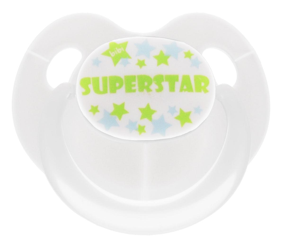 Bibi Пустышка силиконовая Dental Superstar от 0 до 6 месяцев