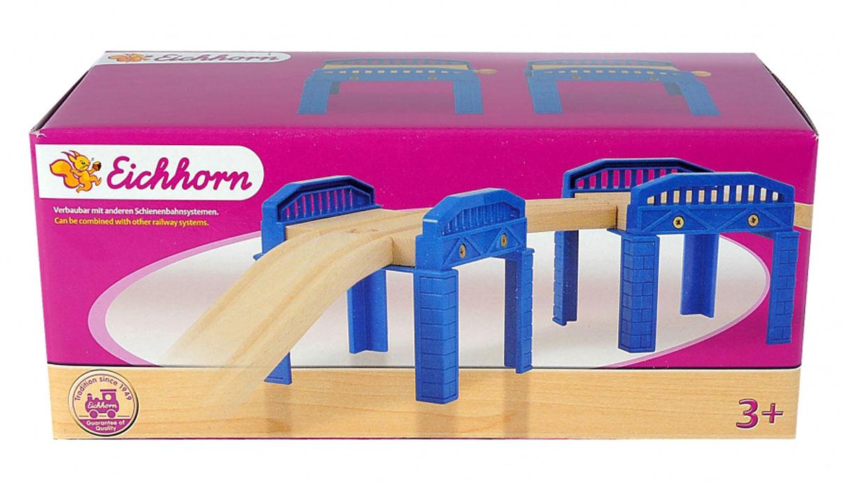 Eichhorn Опора моста100001504Опора моста Eichhorn станет прекрасным дополнением при постройке детской железной дороги. Две надежные опоры обеспечивают прочное крепление железнодорожного полотна с помощью широких пластиковых выемок с бортами. Колонны выполнены из экологически чистых материалов, безопасных для детского здоровья, а их поверхности гладкие и не имеют зазубрин. Детали имеют насыщенный синий цвет, поэтому станут ярким дополнением к железной дороге вашего ребенка. Железные дороги позволяют ребенку не только получать удовольствие от игры, но и развивать пространственное воображение, мелкую моторику и координацию движений. Совместим со всеми стандартными наборами Eichhorn и наборами Brio.
