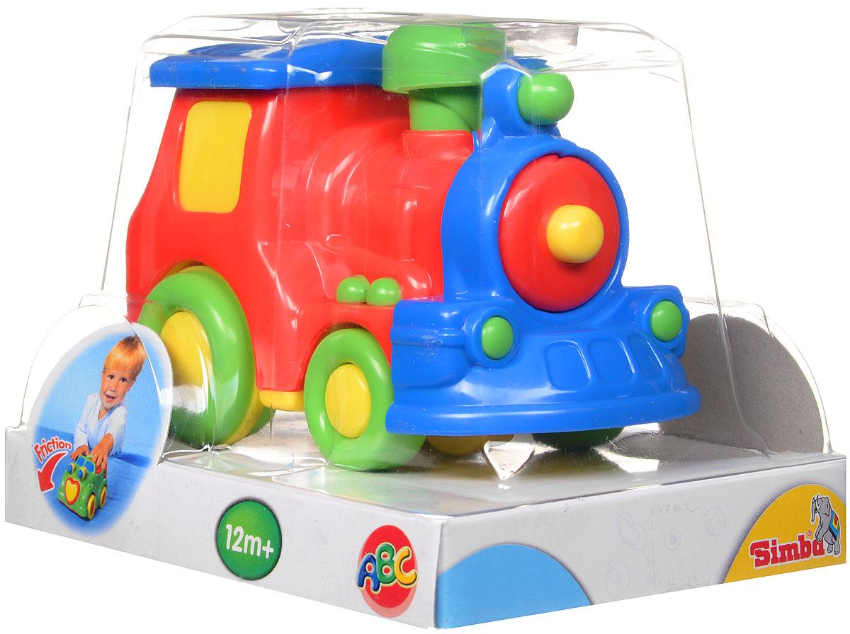 Simba Паровоз инерционный цвет красный4015832_красный паровозЯркая игрушка Simba Паровоз привлечет внимание вашего малыша и не позволит ему скучать! Выполненная из безопасного пластика, игрушка представляет собой забавный паровоз. Округлые без острых углов формы гарантируют безопасность даже самым маленьким. Для запуска, установите игрушку на поверхность, потяните назад или прокатите вперед и отпустите, игрушка продолжит движение. Инерционная игрушка Паровоз поможет ребенку в развитии воображения, мелкой моторики рук, концентрации внимания и цветового восприятия.