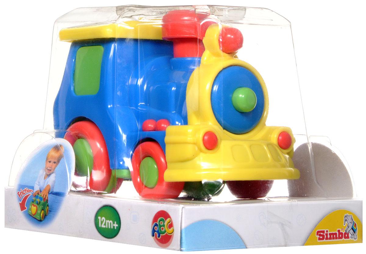 Simba Паровоз инерционный цвет синий4015832_синий паровозЯркая игрушка Simba Паровоз привлечет внимание вашего малыша и не позволит ему скучать! Выполненная из безопасного пластика, игрушка представляет собой забавный паровоз. Округлые без острых углов формы гарантируют безопасность даже самым маленьким. Для запуска, установите игрушку на поверхность, потяните назад или прокатите вперед и отпустите, игрушка продолжит движение. Инерционная игрушка Паровоз поможет ребенку в развитии воображения, мелкой моторики рук, концентрации внимания и цветового восприятия.