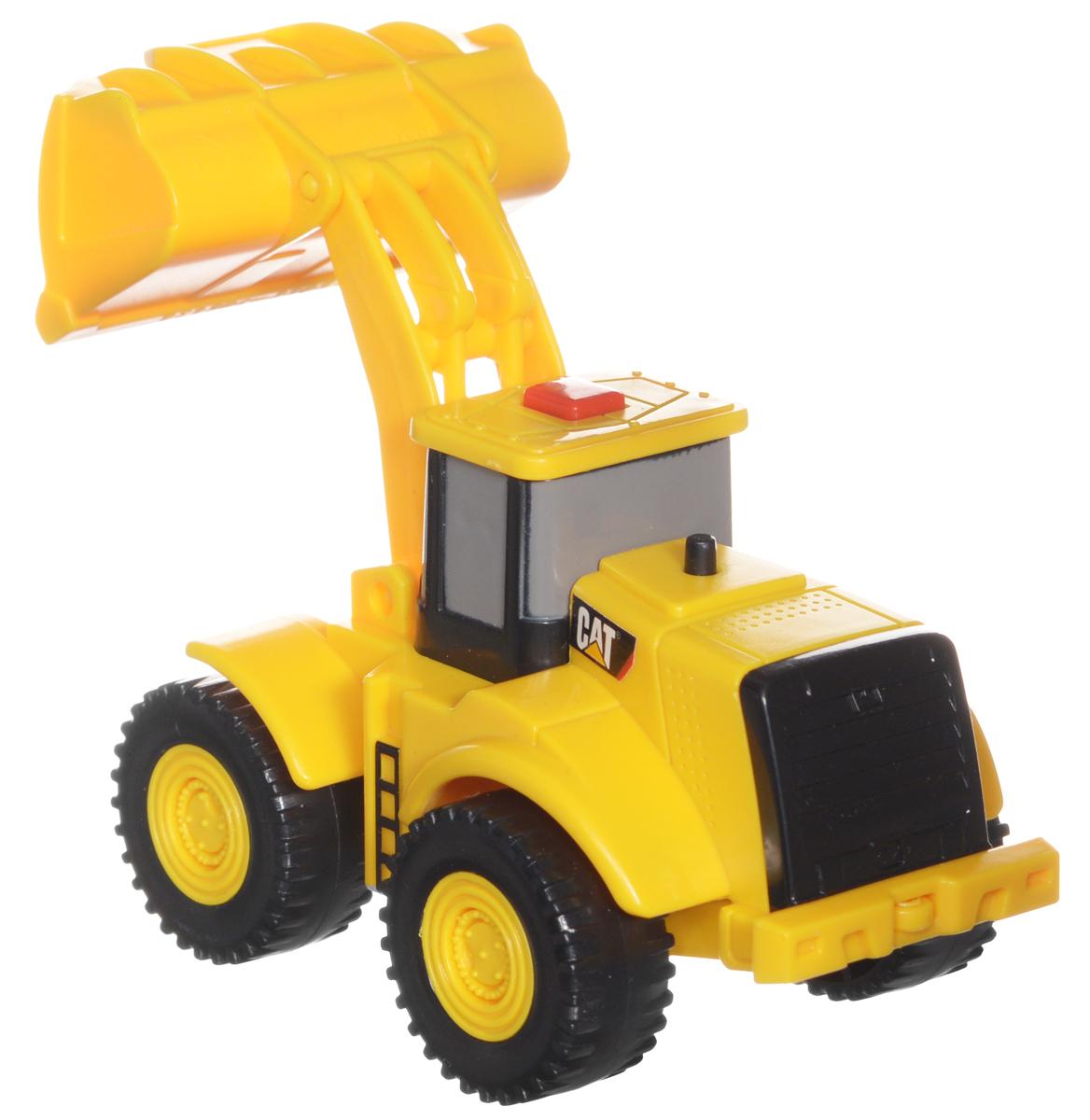 Toystate Погрузчик Flash Rides Cat34696TS_погрузчик Flash RidesПогрузчик Toystate Flash Rides. Cat обязательно привлечет внимание вашего ребенка. Выполнен из прочного пластика черного и желтого цветов. Погрузчик оснащен подвижным ковшом. На крыше располагается красная кнопка. При нажатии на нее воспроизводятся различные звуки, а также загораются две лампочки в верхней части кабины. Малыш проведет с этой игрушкой много увлекательных часов, воспроизводя свою стройку. Ваш ребенок будет в восторге от такого подарка! Рекомендуется докупить 2 батарейки напряжением 1,5V типа LR44 (товар комплектуется демонстрационными).