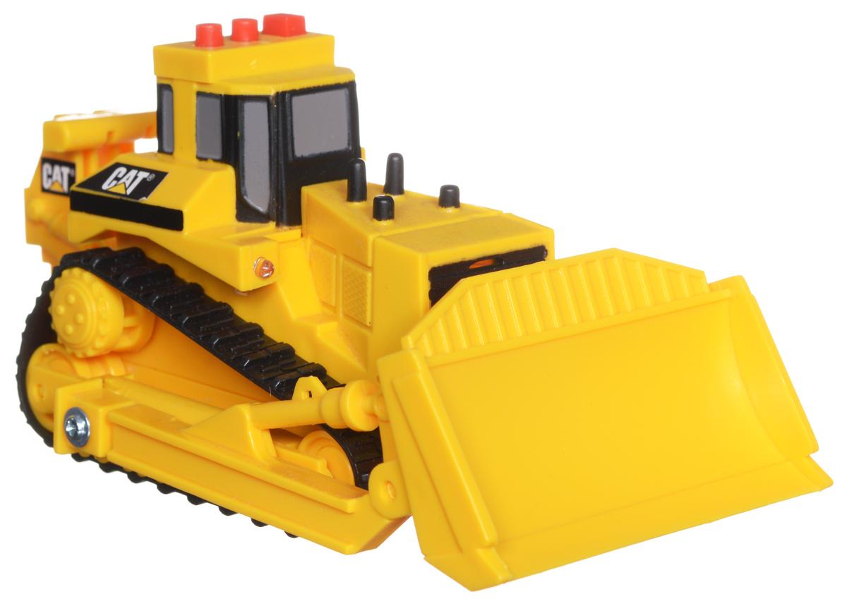 Toystate Бульдозер Cat34611TS-R_бульдозерБульдозер Toystate Cat обязательно привлечет внимание вашего ребенка. Выполнен из прочного пластика черного и желтого цветов. Бульдозер оснащен подвижным щитом. На крыше располагаются три кнопочки. При нажатии на них воспроизводятся различные звуки, а также загораются лампочки. Малыш проведет с этой игрушкой много увлекательных часов, воспроизводя свою стройку. Ваш ребенок будет в восторге от такого подарка! Рекомендуется докупить 3 батарейки напряжением 1,5V типа LR44 (товар комплектуется демонстрационными).