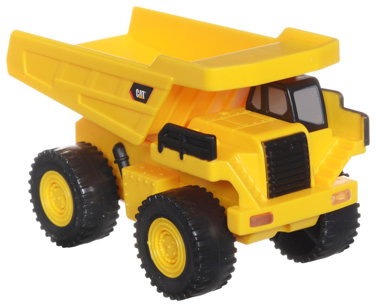 Toystate Самосвал Flash Rides Cat34696TS_самосвал Flash RidesСамосвал Toystate Flash Rides. Cat обязательно привлечет внимание вашего ребенка. Выполнен из безопасного и прочного материала и представляет собой одноименную копию самосвала с откидывающимся кузовом. Под ним располагается красная кнопка. При нажатии на нее воспроизводятся различные звуки, а также загораются фары. Ваш ребенок будет часами играть с этой машинкой, придумывая различные истории. Порадуйте его таким замечательным подарком! Рекомендуется докупить 2 батарейки напряжением 1,5V типа LR44 (товар комплектуется демонстрационными).