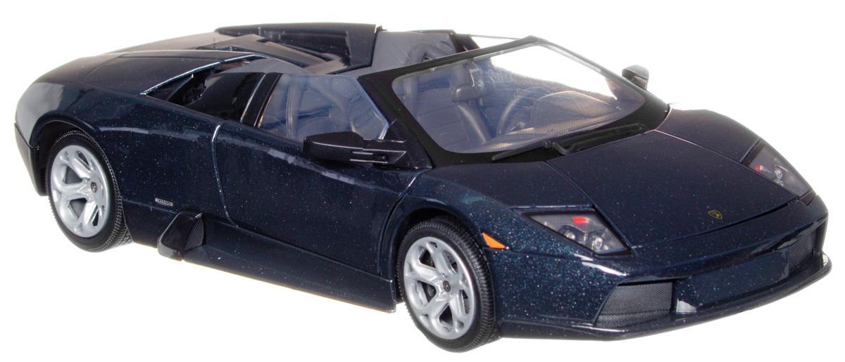 Autotime Модель автомобиля Lamborghini Murcielago Roadster цвет черный73169-RUS_черныйКоллекционная модель Autotime Lamborghini Murcielago Roadster выполнена из металла с элементами пластика и представляет собой уменьшенную одноименную копию автомобиля. Модель отличается отличным качеством исполнения и детализацией высшего уровня. Масштаб и высокотехнологичное оборудование позволяют передать все тонкости и нюансы настоящей машины. Прорезиненные колеса крутятся при повороте руля; двери и багажник открываются. Модель помещена на пластиковую подставку, дополненную надписью с названием автомобиля. Коллекционная модель автомобиля Autotime Lamborghini Murcielago Roadster понравится вашему ребенку и станет достойным экспонатом любой коллекции.