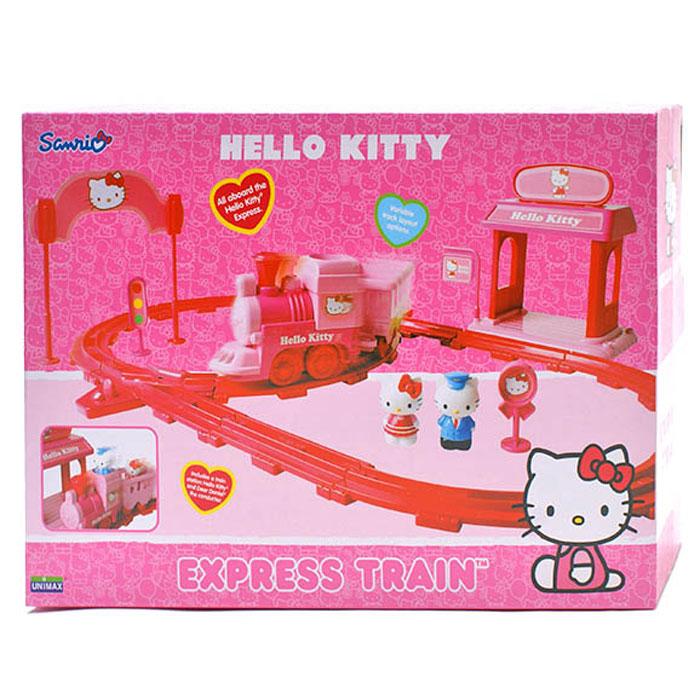 Hello Kitty Железная дорога на батарейках 6501165011Игровой набор Железная Дорога с рельсами HELLO KITTY - очень понравится всем маленьким девочкам. На этом волшебном поезде Kitty может путешествовать в разные города. В набор входит: фигурки Китти, начальника поезда, поезд, железная дорога, множество аксессуаров.