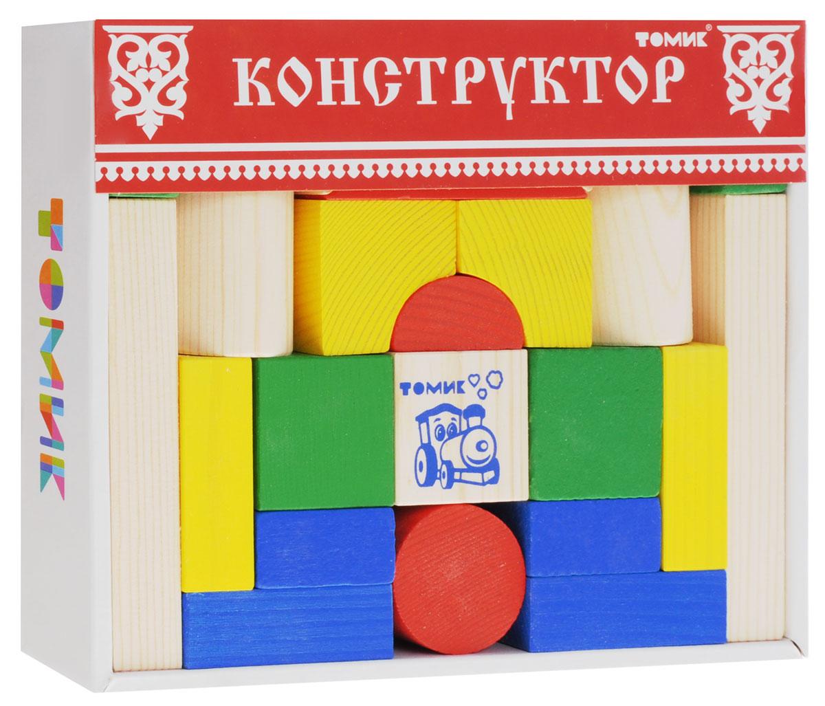 Томик Конструктор Цветной 6678-266678-26Конструктор Томик Цветной состоит из 26 цветных и неокрашенных деталей. Все элементы изготовлены из экологически чистого дерева, краски не токсичные и безопасны для ребенка. С таким конструктором ребенок с удовольствием построит башни, красивые арки, мостики, а если дополнить набор другими конструкторами, то можно сотворить великолепный замок или крепость. Такая игра развивает пространственное мышление, фантазию, умение использовать форму предмета, моторику, координацию, приучает ребенка к усидчивости.