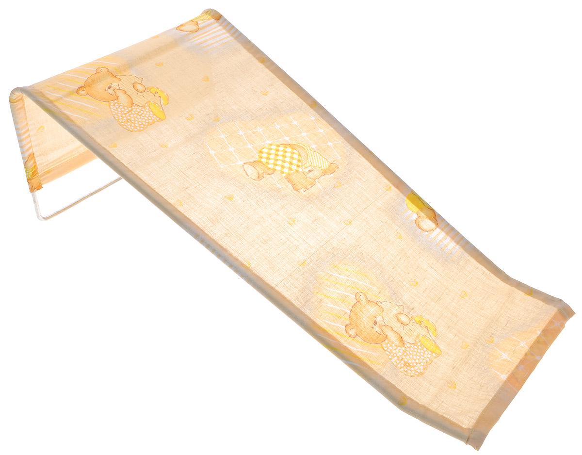 Фея Подставка для купания Мишка с подушкой цвет желтый1332-01_желтый, мишка с подушкойПодставка для купания Фея Мишка с подушкой - это удобный способ мытья и прекрасная возможность побаловать вашего малыша. Эргономичный дизайн подставки разработан специально для комфорта и безопасности вашего ребенка. Основу подставки составляет металлический каркас, обтянутый тканью. Подарите своему малышу радость и комфорт во время купания! Подставка предназначена для купания детей в возрасте до 1 года. Фея - это качественные и надежные товары для малышей, которые может позволить себе каждая семья! Правила ухода за чехлом: после использования хорошо просушить. Запрещается использование моющих средств содержащих щелочь.