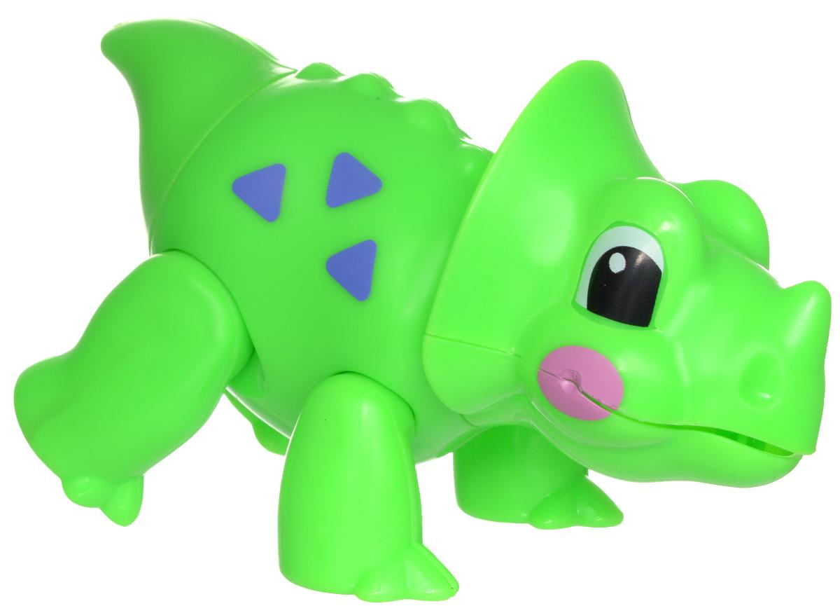 1TOY Фигурка В мире животных ДинозаврТ57443Фигурка В мире животных. Динозавр, выполненная из яркой пластмассы в виде симпатичного динозаврика, непременно придется по душе вашему малышу. Забавная фигурка имеет подвижные лапы, хвост и шею. Если двигать частями тела животного, то будут слышны негромкие щелкающие звуки. Фигурка В мире животных способствует развитию у ребенка цветового и звукового восприятия, мелкой моторики рук, хватательного рефлекса, осязания, координации движений и изучению живого мира нашей планеты. Отлично подходит для сюжетно-ролевых игр, которые способствуют развитию памяти и воображения у малыша.