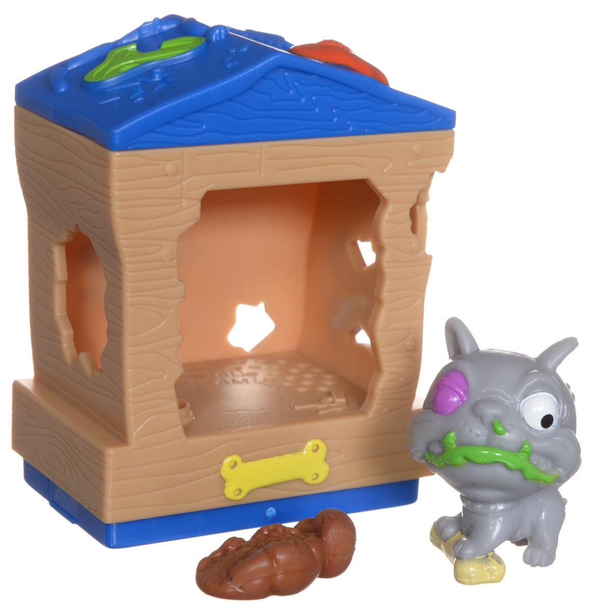 Ugglys Pet Shop Игровой набор Домик с фигуркой Mutt Hut19411_mutt hutИгровой набор из серии Хулиганские животные состоит из домика со звуковыми эффектами и уникальной фигурки питомца, которую нельзя найти в других упаковках и наборах серии. Домик выполнен в ярких цветах и притягивает взгляд. Если внутри него поместить мини-фигурку животного и надавить на пол - будут раздаваться звуки. В ассортименте представлено 6 домиков, которые можно состыковать один с другим и построить большой зоомагазин с эксклюзивными животными. Такая удивительная игрушка обязательно понравится вашей малышке! Порадуйте ее таким замечательным подарком! Для работы требуются 2 батарейки типа LR44 (комплектуется демонстрационными).