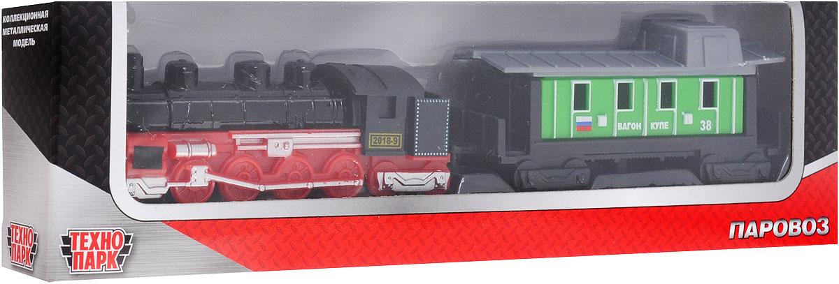 ТехноПарк Железная дорога Локомотив и вагон купе20218-R_красный, зеленыйИгрушка ТехноПарк Локомотив и вагон купе, выполненная из пластика и металла, станет любимой игрушкой вашего малыша. В наборе реалистичный миниатюрный локомотив поезда и вагон купе зеленого цвета. Вагончик легко соединяется с локомотивом. Локомотив поможет почувствовать вашего малыша машинистом настоящего поезда, а вагон - воображаемым пассажиром. Ваш ребенок будет часами играть с этой игрушкой, придумывая различные истории. Порадуйте его таким замечательным подарком!