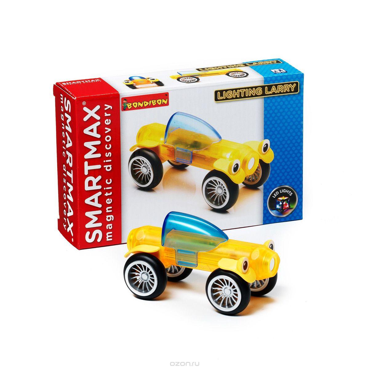 Bondibon Конструктор магнитный Smartmax Светящийся Ларри цвет желтый