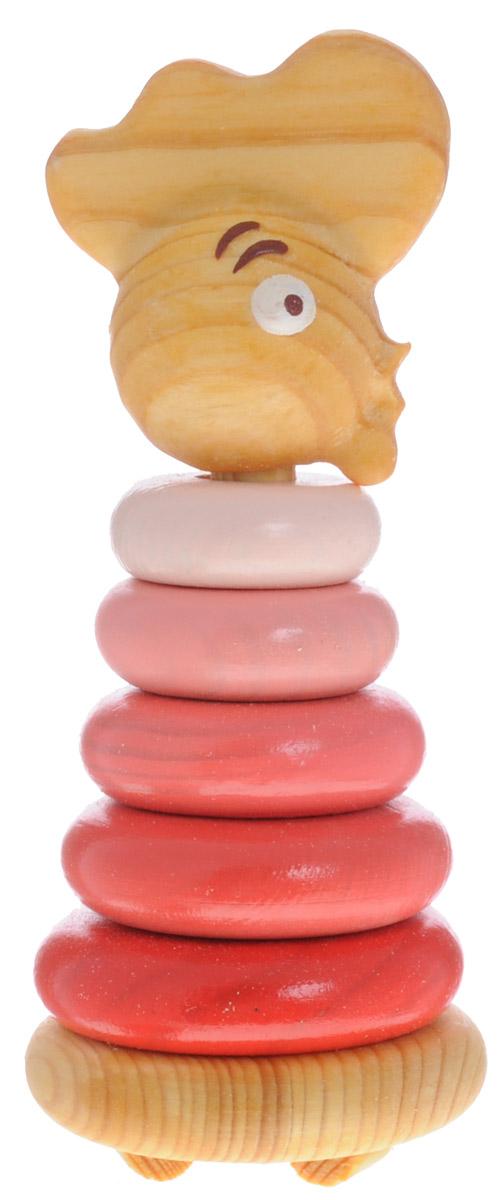 Томик Пирамидка Петушок502С пирамидкой Томик Петушок вы легко научите малыша различать цвета, понятия больше - меньше. Пирамидка развивает мелкую моторику, логическое мышление и координацию движения. Дерево, из которого выполнены детали, стимулирует тактильную чувствительность, а специальные округлые ножки позволят избежать травм, если малыш случайно наступит на игрушку.