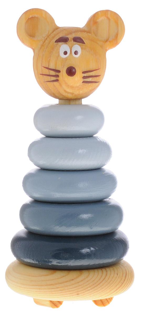 Томик Пирамидка Мышонок503С пирамидкой Томик Мышонок вы легко научите малыша различать цвета, понятия больше - меньше. Пирамидка развивает мелкую моторику, логическое мышление и координацию движения. Дерево, из которого выполнены детали, стимулирует тактильную чувствительность, а специальные округлые ножки позволят избежать травм, если малыш случайно наступит на игрушку.