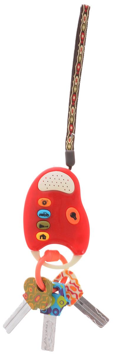 Just B. Just You. B. You Развивающая игрушка Fun Keys цвет бордовый68601_бордовыйРазвивающая игрушка Just B. Just You. B. You Fun Key приведет в восторг любого малыша. С этой игрушкой малыш сможет почувствовать себя совсем взрослым - теперь у него будут свои собственные ключи, как у мамы с папой! Игрушка выполнена в виде связки ключей с брелоком от автосигнализации. Корпус игрушки изготовлен из прочного пластика, ключики выполнены из металла. Брелок имеет 5 кнопок. При нажатии на кнопки, расположенные в левой части корпуса, игрушка будет издавать реалистичные звуки автосигнализации, работающего двигателя, автомобильного клаксона или дверного звонка. При нажатии на кнопку в правой части корпуса, на торце брелока загорится фонарик. Такая игрушка станет не только веселой, но и полезной забавой для малыша. Она отлично позволит малышу развить мелкую моторику малыша, цветовое и звуковое восприятие, а также внимание и творческое мышление. Рекомендуется докупить 2 батарейки напряжением 1,5V типа AАА (товар комплектуется демонстрационными).