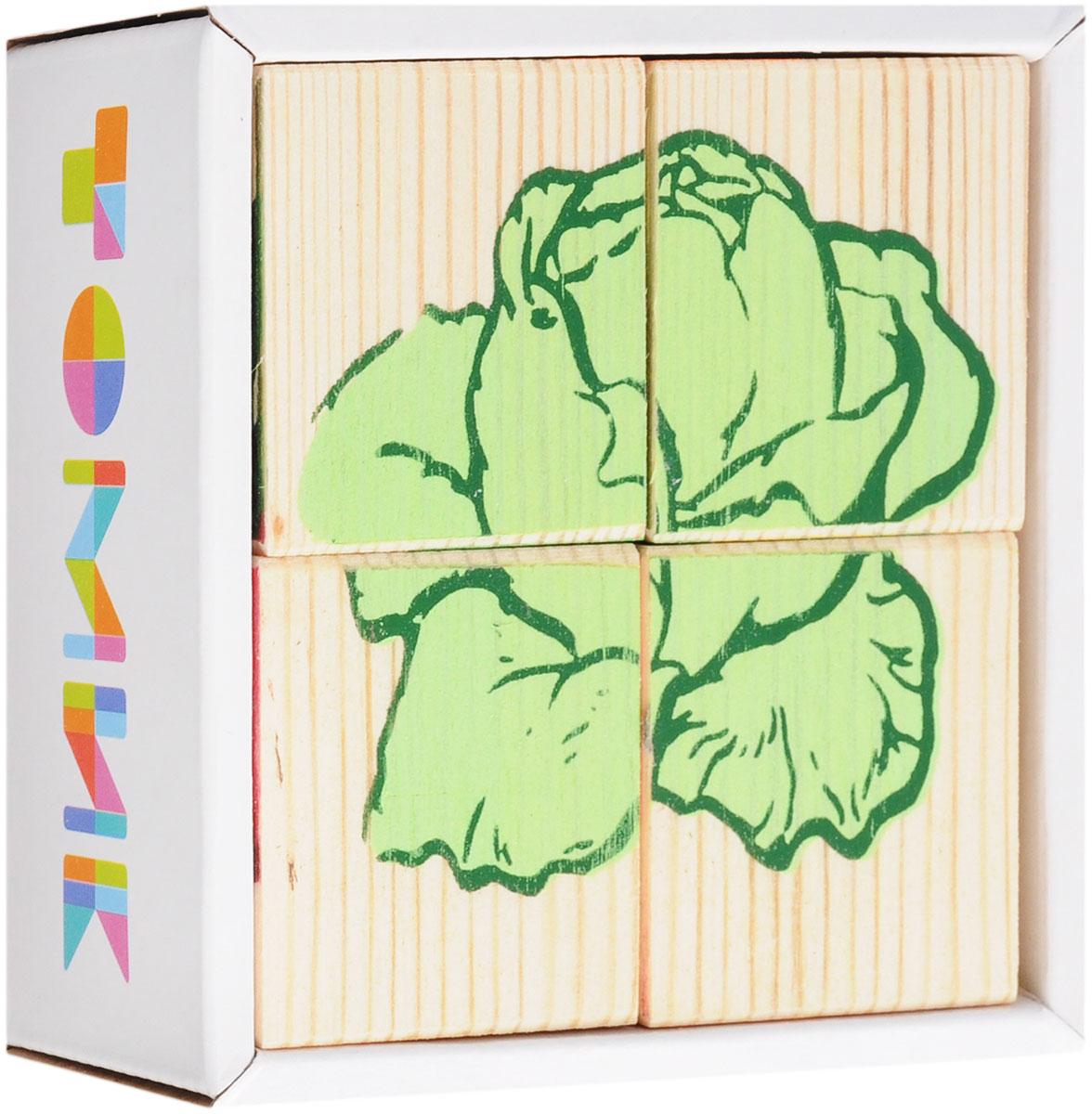 Томик Кубики Овощи3333-6Кубики Томик Овощи станут отличным подарком для малыша. Деревянные кубики с рисунками многие родители неслучайно выбирают в качестве одной из первых игрушек для своих малышей. Ведь это не только прекрасный строительный материал для детских замков, но и удобное пособие для развития зрительной памяти, логики и мелкой моторики у детей. Объясните ребенку, что на каждом кубике нанесены части картинки, которые надо собрать вместе. Покажите как, вращая кубик, можно найти необходимый кусочек изображения. С помощью кубиков можно собрать 6 разных изображений овощей: огурец, картошка, морковка, капуста, помидор, свекла.