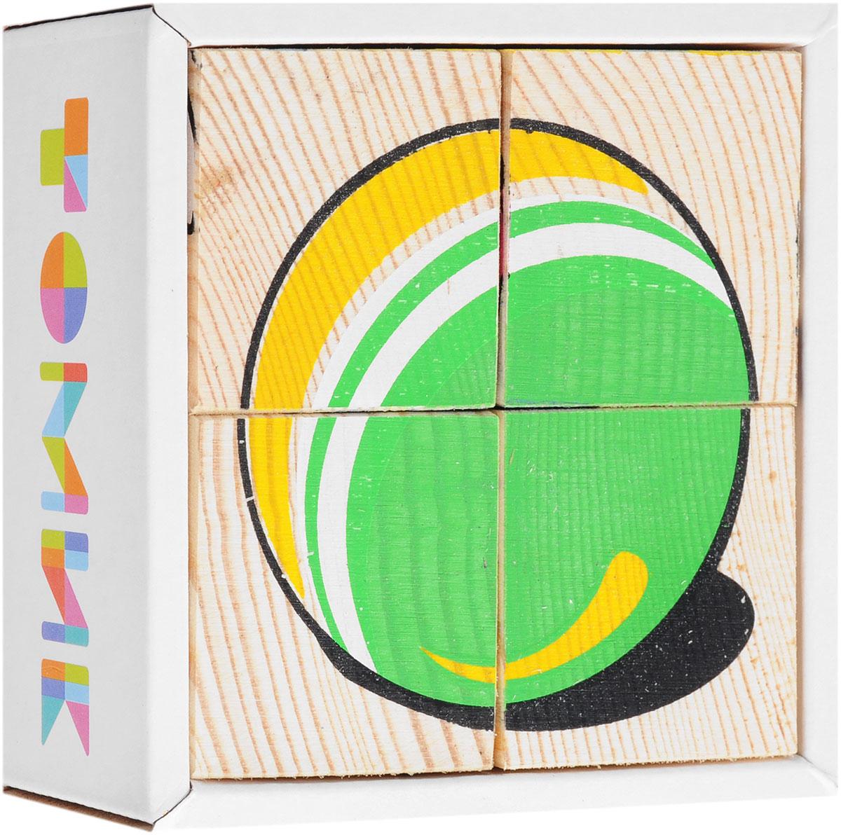 Томик Кубики Игрушки3333-3Кубики Томик Игрушки станут отличным подарком для малыша. Деревянные кубики с рисунками многие родители неслучайно выбирают в качестве одной из первых игрушек для своих малышей. Ведь это не только прекрасный строительный материал для детских замков, но и удобное пособие для развития зрительной памяти, логики и мелкой моторики у детей. Объясните ребенку, что на каждом кубике нанесены части картинки, которые надо собрать вместе. Покажите как, вращая кубик, можно найти необходимый кусочек изображения. С помощью кубиков можно собрать 6 разных изображений детских игрушек: ведерко с лопаткой, велосипед, кукла, юла, мяч, мишка.