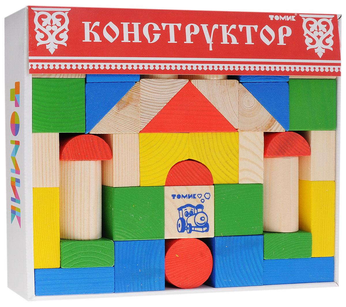 Томик Конструктор Цветной 6678-436678-43Конструктор Томик Цветной состоит из 43 цветных и неокрашенных деталей. Все элементы изготовлены из экологически чистого дерева, краски не токсичные и безопасны для ребенка. С таким конструктором ребенок с удовольствием построит башни, красивые арки, мостики, а если дополнить набор другими конструкторами, то можно сотворить великолепный замок или крепость. Такая игра развивает пространственное мышление, фантазию, умение использовать форму предмета, моторику, координацию, приучает ребенка к усидчивости.
