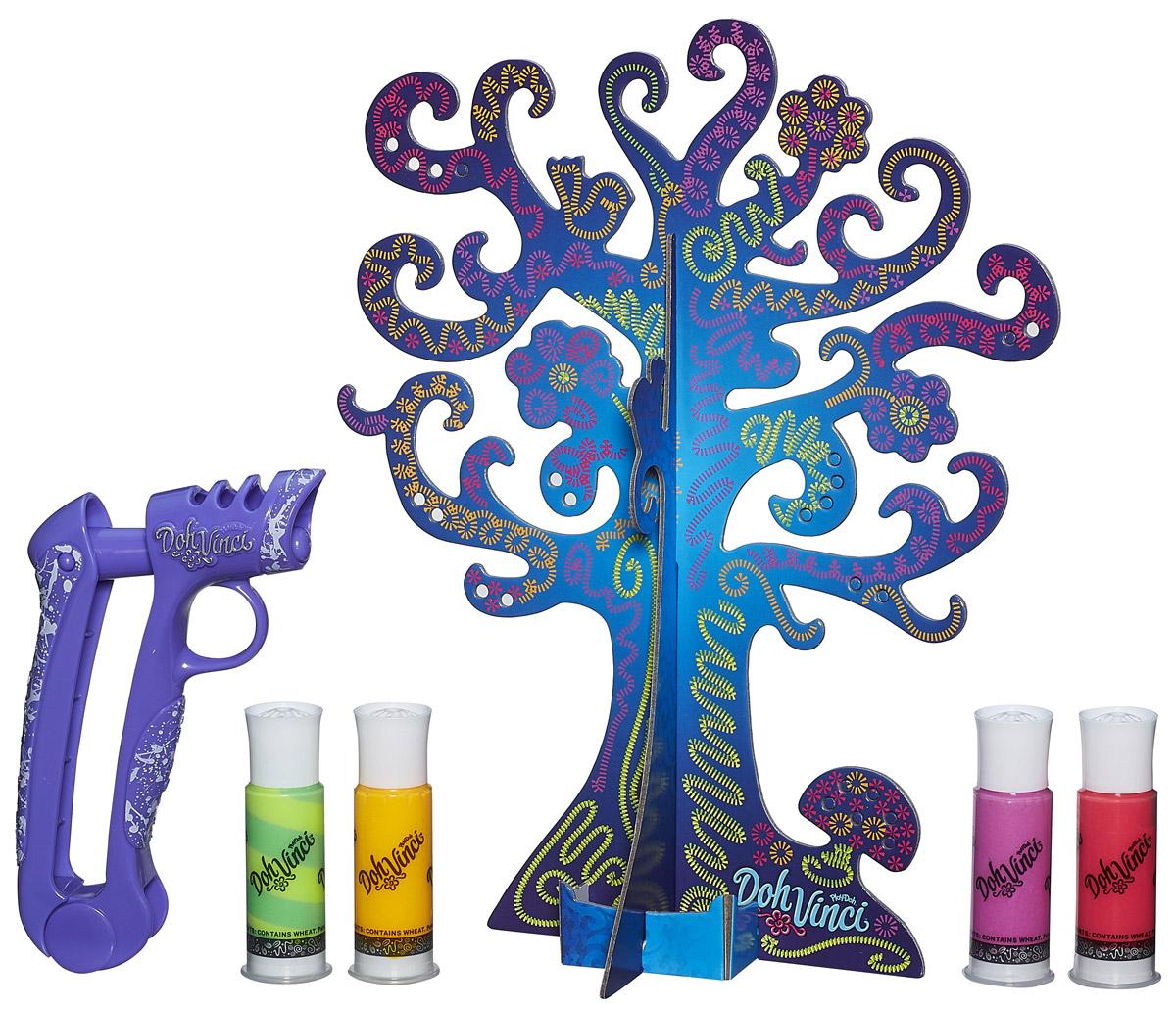 DohVinci Набор для творчества Дерево для драгоценностейB1719С набором для творчества DohVinchi Дерево для драгоценностей вы сможете продемонстрировать воображение и свои украшения в одном шедевре! В набор входит: дерево для украшений из 3 элементов, стайлер, 4 картриджа и буклет. Украсьте это дерево украшений выразительными объемными дизайнами при помощи стайлера и цветных картриджей. Вы также можете добавить яркости с помощью смешанного цвета! Когда вы завершите свой шедевр, вы сможете хранить на нем серьги, помещая их в специальные отверстия, а также браслеты или колье, развешивая их на ветках. Творчество еще никогда не было таким модным! Необходимо осторожное обращение с готовым изделием. Затвердевает через некоторое время, но прочность зависит от толщины слоя нанесенной массы и факторов окружающей среды, в том числе, влажности.