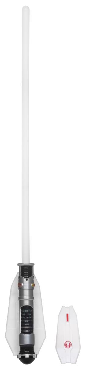 Star Wars Светильник Световой меч Оби Ван Кеноби15047Светильник Star Wars Световой меч Оби Ван Кеноби непременно понравится любому поклоннику Звездных войн, и украсит интерьер вашего дома. Меч является точной копией оружия Оби Ван Кеноби - одного из главных героев эпопеи Звездные Войны. Световой меч станет великолепным украшением комнаты любого поклонника знаменитой космической саги. Меч дополнен звуковыми эффектами и светится приятным синим цветом, не раздражает глаза и прекрасно подходит на роль ночника. Благодаря входящему в комплект пульту дистанционного управления, вы сможете включать и выключать светильник не вставая с кровати. В комплект входят все элементы для сборки меча-светильника, это поможет ребенку не только создать оригинальный ночник своими руками, но и познакомиться с основами моделирования и электроники. Необходимо докупить 5 батареек напряжением 1,5V типа ААА (не входят в комплект).