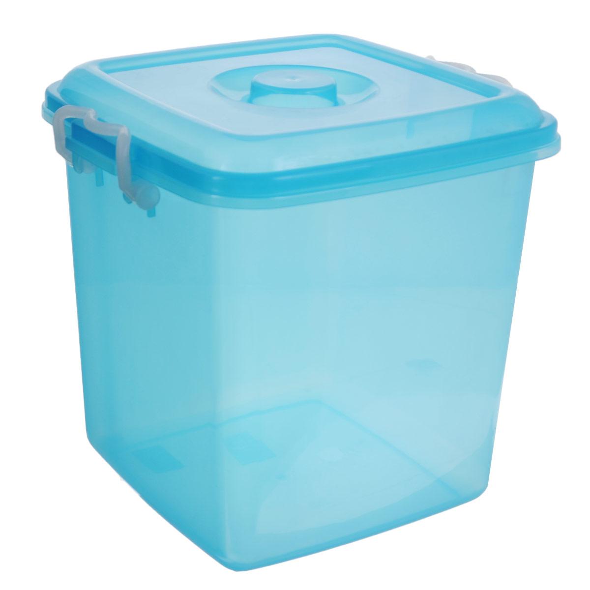 Контейнер для хранения Idea Океаник, цвет: голубой, 10 лМ 2857Контейнер Idea Океаник выполнен из прочного пластика, предназначен для хранения различных бытовых предметов и мелочей. Контейнер снабжен эргономичной плотно закрывающейся крышкой со специальными боковыми фиксаторами.