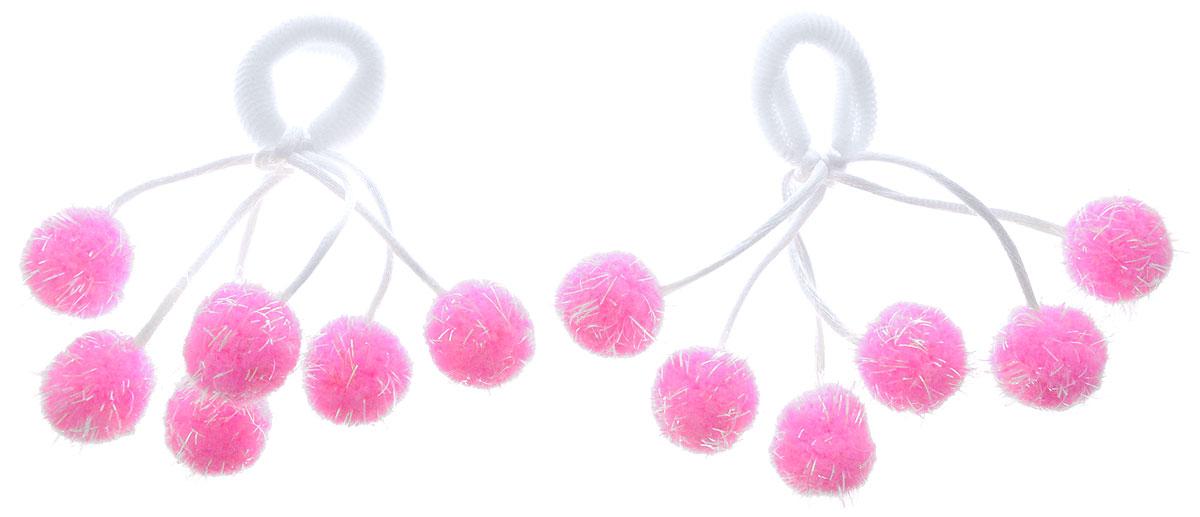 Babys Joy Резинка для волос Помпоны малые цвет розовый 2 штMN 38_помпушки_розовыйРезинка для волос Babys Joy дополнена атласными шнурками с пришитыми к ним яркими текстильными шариками. Резинка позволит не только убрать непослушные волосы с лица, но и придать образу романтичности и очарования. Резинка для волос Babys Joy подчеркнет уникальность вашей маленькой модницы и станет прекрасным дополнением к ее неповторимому стилю.