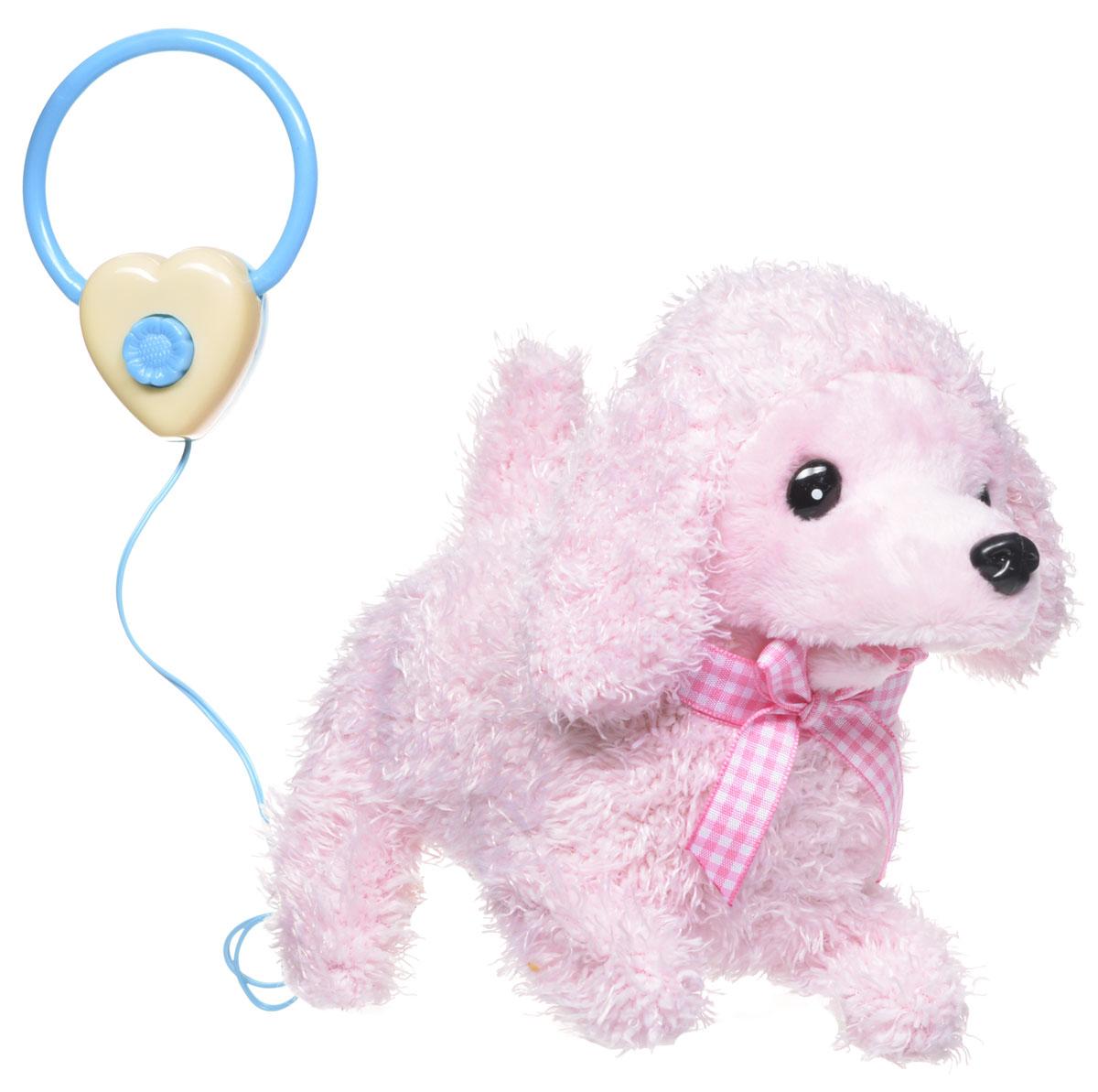 Sonata Style Мягкая озвученная игрушка Моя собачка на пульте управления цвет розовый 14 смGT5931_розовыйМягкая озвученная игрушка Sonata Style Моя собачка развлечет вашего ребенка и станет для него любимой игрушкой. Игрушка выполнена в виде симпатичного щенка светло-розового цвета. Очаровательный щенок выглядит совсем как настоящий. На шее у него красуется ленточка розового цвета. В комплект с игрушкой входит пульт управления, выполненный в виде поводка. Собачка умеет ходить, садиться, шевелить хвостиком и лаять. Щенок поднимет настроение вашему малышу и подарит массу положительных эмоций. Рекомендуется докупить 2 батарейки напряжением 1,5V типа АA (товар комплектуется демонстрационными).