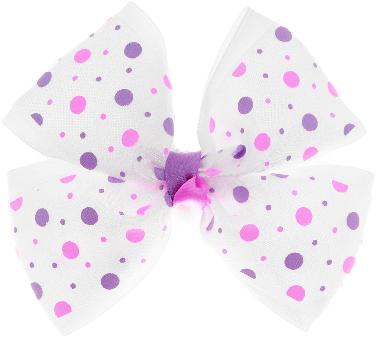 Babys Joy Резинка для волос Бантик цвет белый фиолетовый розовыйMN 122_белый, фиолетовый и розовый горошекРезинка для волос Babys Joy декорирована большим двойным бантиком. Резинка позволит не только убрать непослушные волосы с лица, но и придать образу романтичности и очарования. Резинка для волос Babys Joy подчеркнет уникальность вашей маленькой модницы и станет прекрасным дополнением к ее неповторимому стилю.