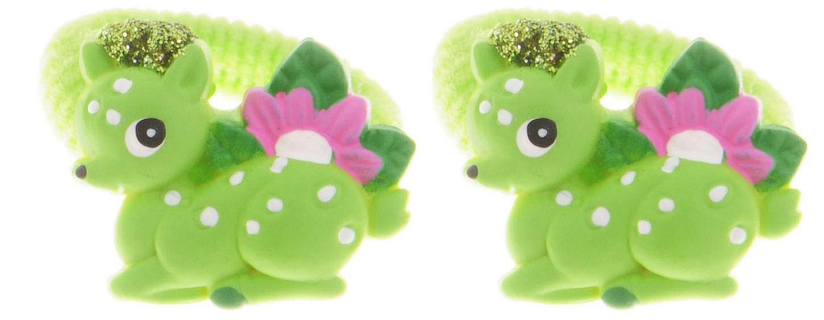 Baby's Joy Резинка для волос Олень цвет зеленый 2 шт