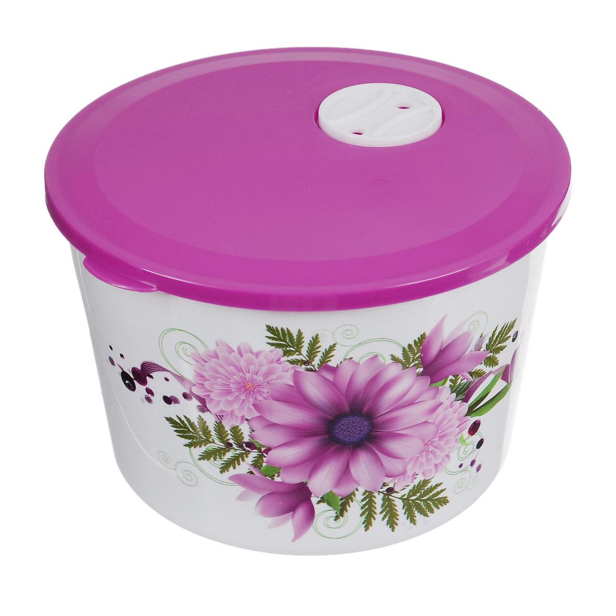 Контейнер Альтернатива Хризантемы, цвет: белый, розовый, 1,7 лМ2199Контейнер Альтернатива Хризантемы изготовлен из высококачественного прочного пластика и украшен изображением хризантем. Крышка плотно закрывается, дольше сохраняя продукты свежими и вкусными. На крышке имеется специальный клапан, который обеспечивает герметичность. Контейнер идеально подходит для хранения пищи, его удобно брать с собой на работу, учебу, пикник или просто использовать для хранения продуктов в холодильнике.