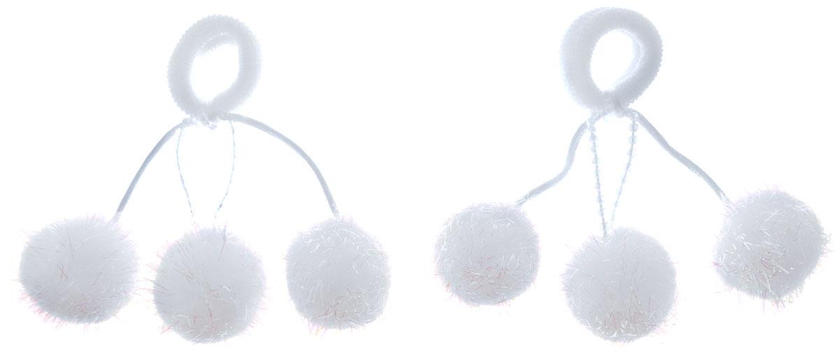 Baby's Joy Резинка для волос Помпоны большие цвет белый 2 шт