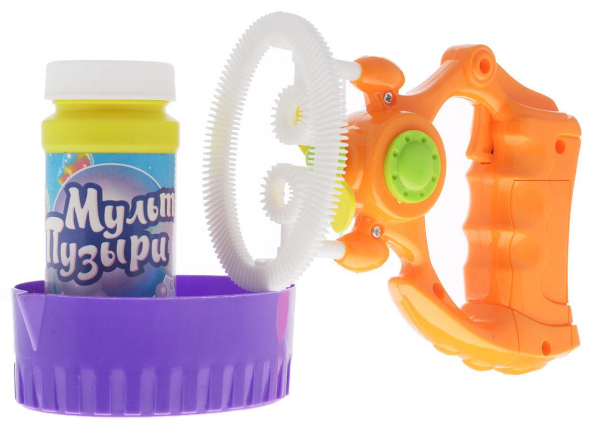 Веселая затея Набор для пускания мыльных пузырей Мульти Пузыри цвет оранжевый белый
