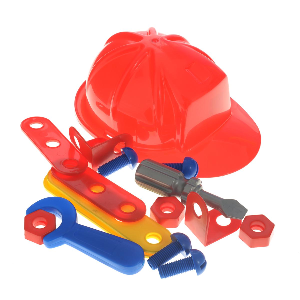 Palau Toys Игровой набор Super Work 17 предметов07/1325Игровой набор Palau Toys Super Work обязательно привлечет внимание вашего малыша. Набор включает в себя планки с отверстиями (2 коротких, 2 длинных), 2 угловых элемента, 4 гайки, 4 болта, отвертку и гаечный ключ, а также строительную каску для маленького работника. Все элементы набора имеют увеличенные размеры специально для маленьких пальчиков малыша. Ребенку не составит труда собирать и разбирать разнообразные поделки. Такой набор можно брать с собой на прогулку, ведь все инструменты аккуратно размещены в небольшом, но вместительном чемоданчике с удобной ручкой для переноски. Ваш малыш почувствует себя настоящим строителем! С таким набором ваш ребенок весело проведет время, играя на детской площадке или в песочнице. Процесс сборки поделок поможет малышу развить мелкую моторику пальчиков, внимательность и усидчивость. Порадуйте своего малыша таким чудесным подарком!