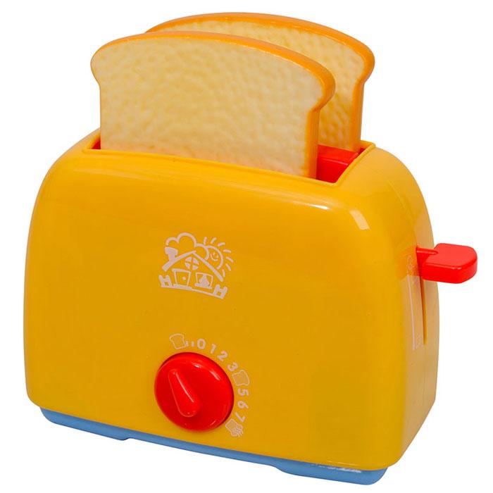 Playgo Игровой набор Тостер, цвет: желтыйPlay 3155Игровой набор Playgo Тостер привлечет внимание вашего маленького кулинара и не позволит ему скучать. Набор включает в себя тостер и 2 кусочка хлеба. Игрушечный тостер очень похож на настоящий кухонный прибор! Поместите тосты внутрь и поверните выключатель - и он начнет поворачиваться обратно с характерным тиканьем, а когда отсчет закончится - тосты выпрыгнут наружу. С таким набором ваш малыш сможет приготовить для своих игрушек вкусный завтрак. Игрушечная бытовая техника не только развлекает ребенка, но и знакомит его с правилами использования электроприборов. Порадуйте его таким замечательным подарком!