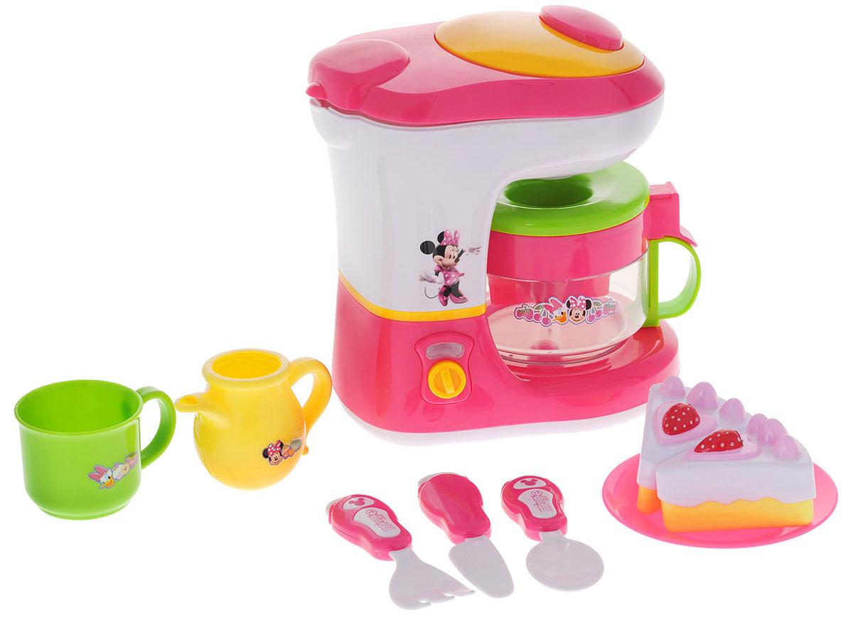 Disney Игровой набор Minnie Mouse Bow-Tique Coffee Maker Set 10 предметов60311МИгровой набор Disney Bow-Tique. Coffee Maker Set приведет в восторг вашу малышку! В состав набора, выполненного из пластика, входят: кофеварка с кофейником, чашка, молочник, блюдце, нож, вилка, ложка, 2 пирожных. В кофеварку можно залить воду. Выливается она путем нажатия на кнопку в верхней части игрушки. Предметы набора оформлены изображениями очаровательных мультипликационных персонажей Disney - Минни Маус и Дейзи Дак. Такой набор станет прекрасным дополнением к игровой ситуации с приглашением гостей к столу.