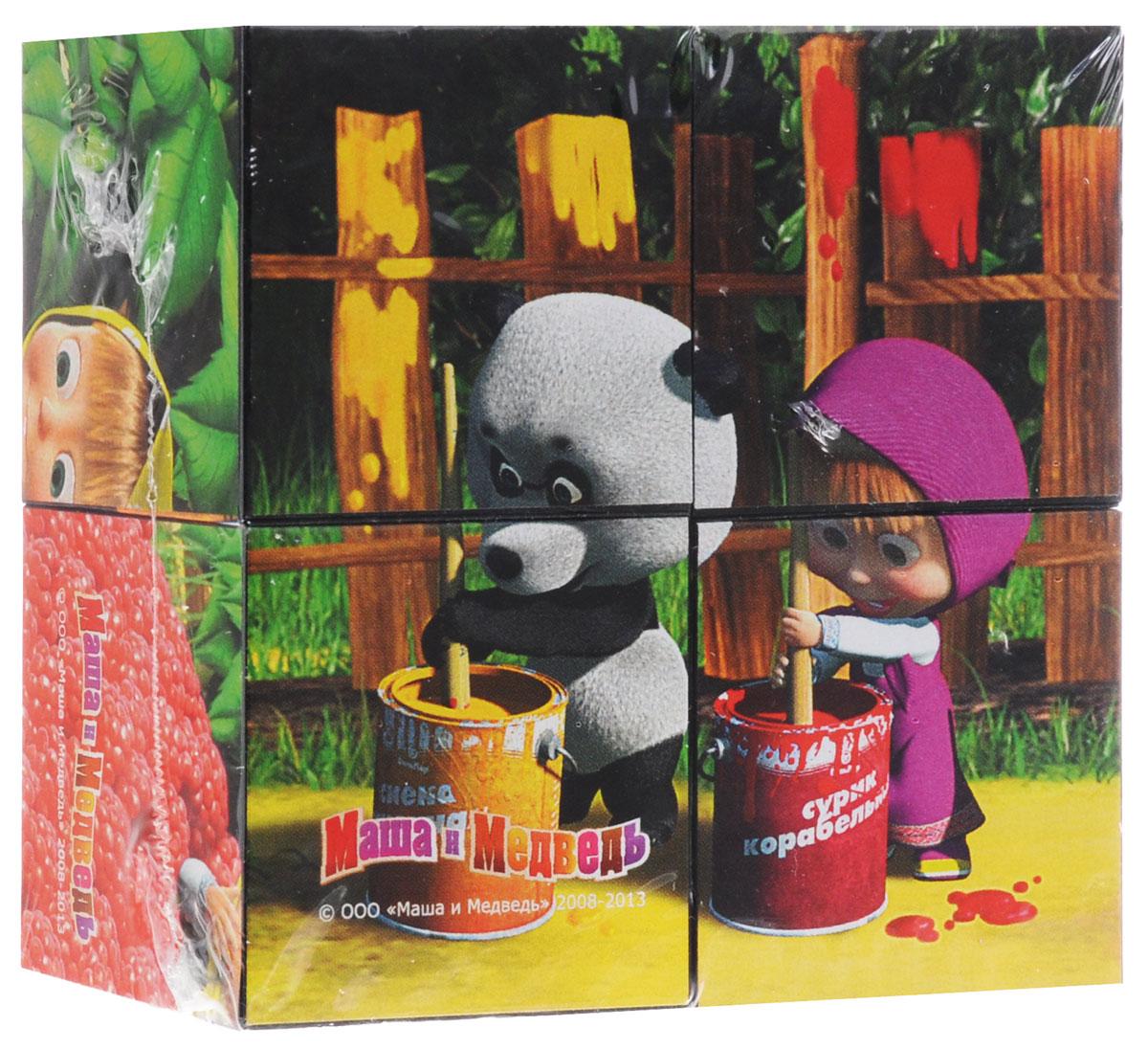 Step Puzzle Кубики Маша и Медведь Краска87132_краскаС помощью четырех кубиков Step Puzzle Маша и Медведь: Краска ребенок сможет собрать целых шесть красочных картинок с изображением героев из одноименного мультфильма. Игра с кубиками развивает зрительное восприятие, наблюдательность и внимание, мелкую моторику рук и произвольные движения. Ребенок научится складывать целостный образ из частей, определять недостающие детали изображения. Это прекрасный комплект для развлечения и времяпрепровождения с пользой для малыша.
