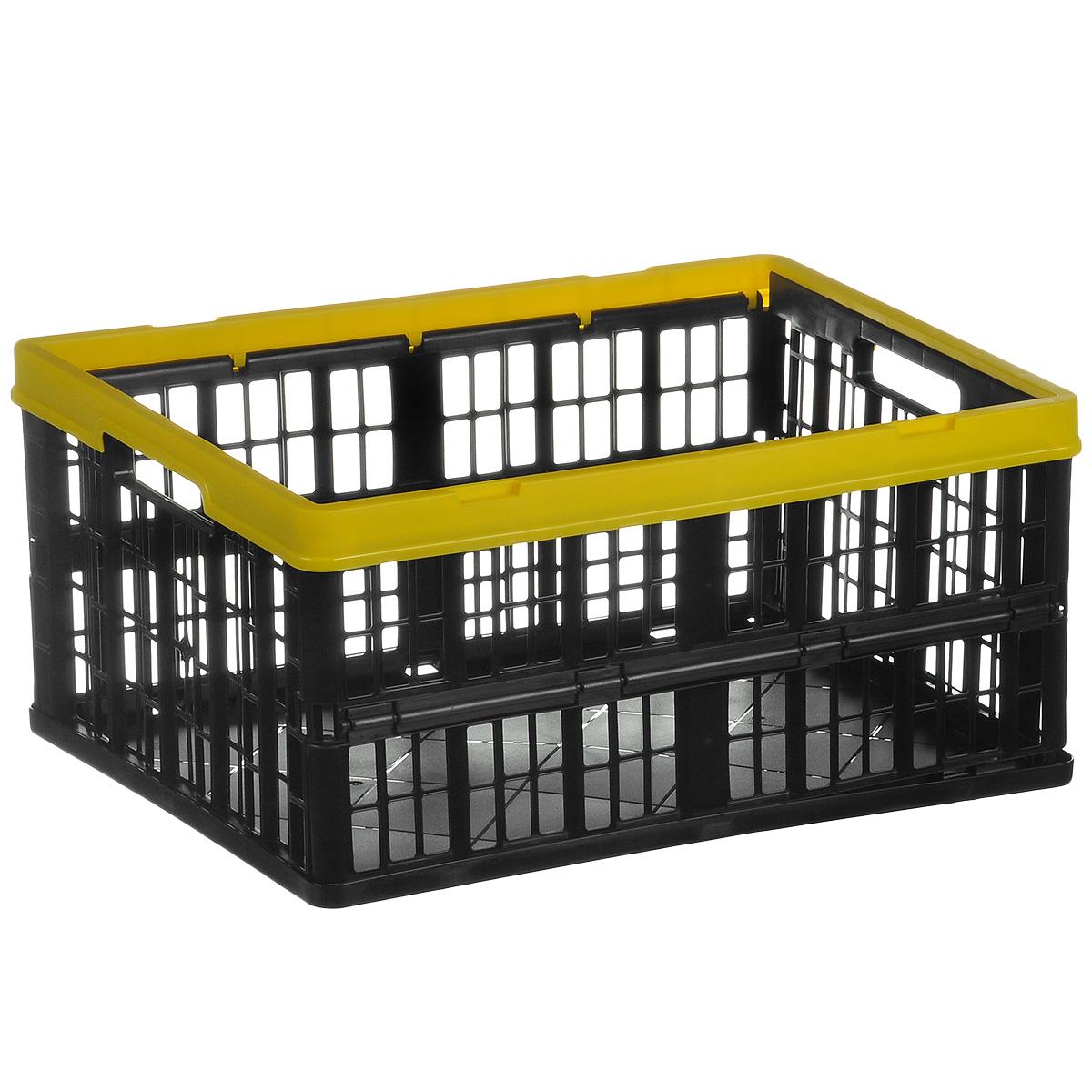 Ящик складной Бытпласт, с перфорированными стенками, 48 см х 35 см х 23 смС12282Складной ящик Бытпласт выполнен из пластика и предназначен для хранения различных предметов. Ящик оснащен перфорированными стенками. Он быстро складывается и раскладывается. В сложенном виде занимает минимум места. Очень удобный и вместительный, такой ящик будет очень полезен для хранения вещей или продуктов. Размер в сложенном виде: 48 см x 35 см x 5,5 см; Размер в разложенном виде: 48 см х 35 см х 23 см.