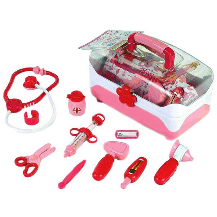 Klein Игровой набор Barbie Доктор 11 предметов4688Игровой набор Klein Barbie. Доктор включает в себя полный набор необходимых аксессуаров для маленького врача, которые создадут увлекательную атмосферу игры. В комплект входят: стетоскоп, шприц, молоточек, табличка доктора, термометр, ножницы, ушное зеркало и другие предметы. Все элементы набора хранятся в полупрозрачном пластиковом чемоданчике с удобной ручкой, который ваша малышка всегда сможет взять с собой на прогулку или в поездку. С этим замечательным набором ребенок сможет почувствовать себя квалифицированным специалистом. Теперь все игрушки будут совершенно здоровы!