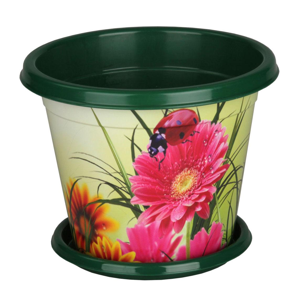 Горшок-кашпо Альтернатива Цветочный блюз, с поддоном, 3 лМ2407Горшок-кашпо Альтернатива Цветочный блюз изготовлен из прочного пластика и оформлен красивым цветочным рисунком. Круглый поддон предназначен для стока воды. Изделие подходит для выращивания растений и цветов в домашних условиях. Такой горшок порадует вас изысканным дизайном и функциональностью, а также оригинально украсит интерьер помещения. Диаметр горшка (по верхнему краю): 20,5 см. Высота горшка: 17,2 см. Диаметр поддона: 15,5 см. Объем горшка: 3 л.