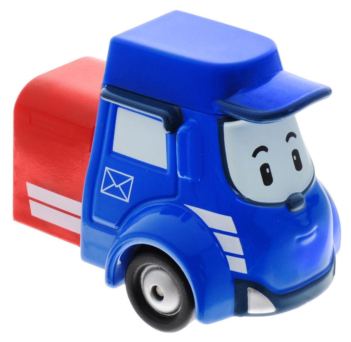 Robocar Poli Машинка Пости83178Машинка Robocar Poli Пости непременно понравится вашему малышу. Она выполнена из металла с элементами пластика. Пости - это замечательный почтовый грузовичок. Он очень ответственный, поэтому стремится довести почту точно в срок. Его красный прицеп с письмами видно издалека и он спешит порадовать всех хорошими вестями. Благодаря небольшому размеру ребенок сможет взять игрушку с собой на прогулку, в поездку или в гости. Порадуйте своего малыша таким замечательным подарком!