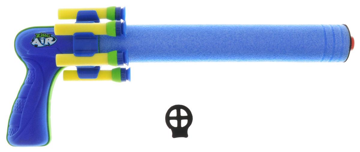 Zing Бластер Benda Blaster цвет голубойZG532Бластер Zing Benda Blaster позволит вашему ребенку почувствовать себя во всеоружии! Бластер выполнен из безопасных для ребенка материалов. Это гибкий пневмопистолет, который стреляет из-за угла. Его ствол легко сгибается таким образом, чтобы можно было стрелять по противнику прямо из укрытия. Необычная конструкция продумана для точных и метких выстрелов несмотря на изгибы. стреляет это оружие присосками, а при игре на открытом воздухе может поражать мишень на удалении до 50 метров. Комплект включает в себя бластер и четыре патрона с присосками. Игра с таким бластером поможет ребенку в развитии меткости, ловкости, координации движений и сноровки.