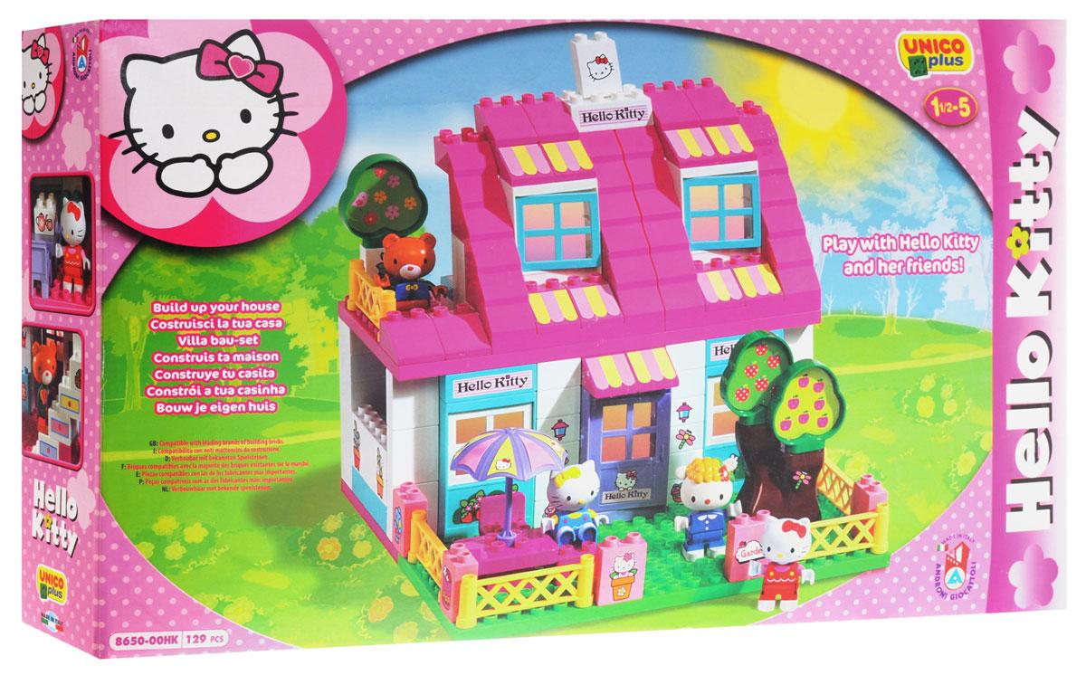 Hello Kitty Конструктор Дом8650-00HKКонструктор Hello Kitty Дом содержит 120 пластиковых элементов, с помощью которых ваша малышка сможет собрать и декорировать просторный двухэтажный домик для кошечки Китти. В комплект также входят фигурки Китти и ее друзей, и лист с наклейками, которыми ребенок сможет украсить готовую поделку. Объединяя детали и фантазируя, ребенок сможет создать свою собственную, неповторимую поделку! Все элементы набора выполнены из безопасного пластика и имеют увеличенные размеры, специально для маленьких детских пальчиков. Руки и ноги фигурок подвижны. В комплект входит множество предметов мебели для домика, благодаря чему ваша малышка сможет почувствовать себя настоящим дизайнером и создать неповторимый домашний интерьер. Ребенок сможет часами играть с конструктором, комбинируя детали и придумывая различные истории. Игры с конструкторами помогут ребенку развить воображение, внимательность, пространственное мышление и творческие способности.