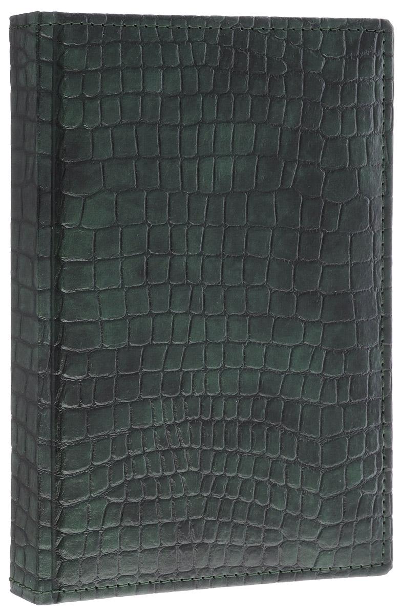 Berlingo Ежедневник Dedalo Croco недатированный 176 листов цвет темно-зеленый 176Ед5_02607