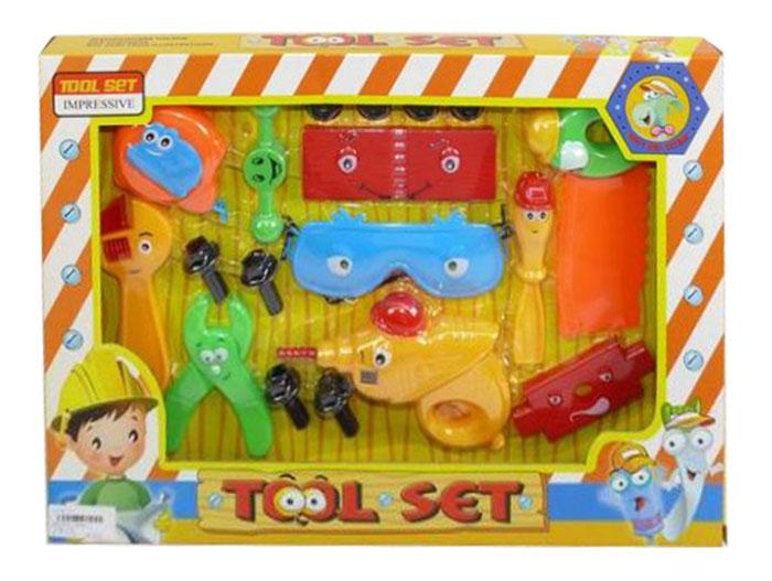 Shantou Gepai Игровой набор Веселый плотник6806-1Веселый плотник - яркий игровой набор, в котором есть все, что может понадобиться юному мастеру. Прибить молотком, отпилить пилой - всех дел и не перечислишь! К тому же, эти инструменты, с нарисованными глазками, светятся и издают реалистичные звуки. Набор познакомит ребенка с различными инструментами, поможет овладеть базовыми профессиональными навыками. Игрушка способствует развитию воображения и мелкой моторики рук. Набор состоит из 10 предметов. Игрушка работает от батареек AG 13 (входят в набор).