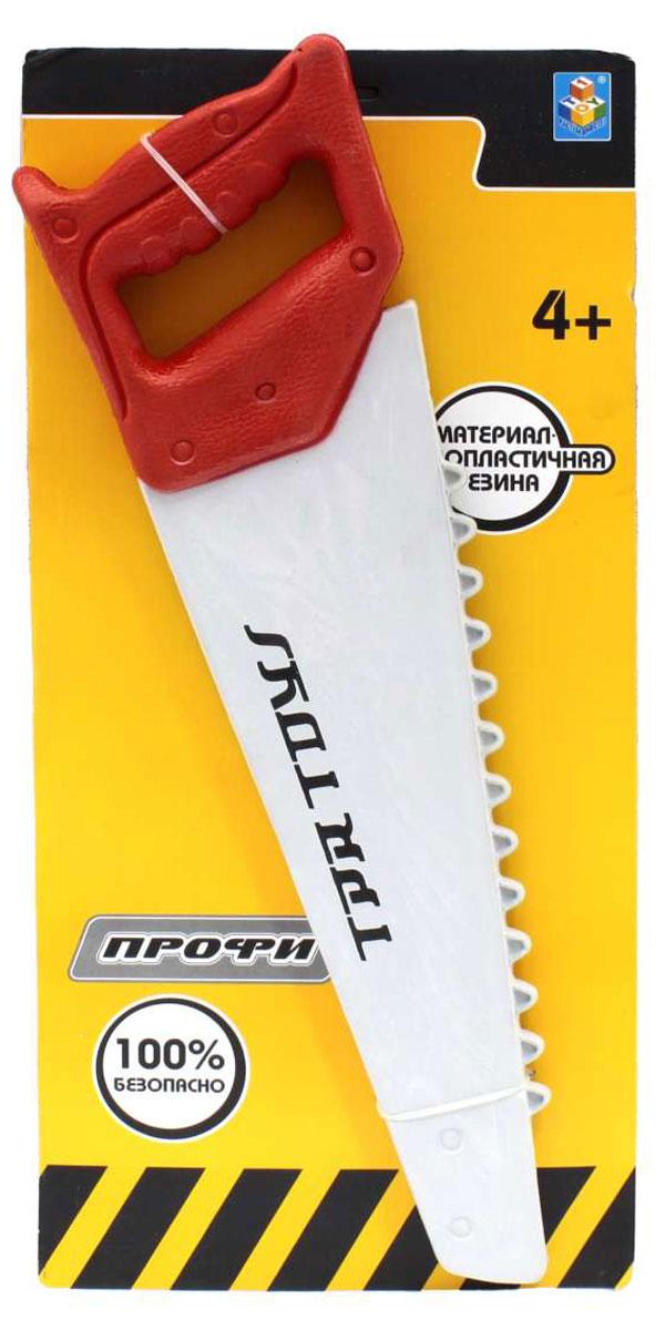 1TOY Пила ПрофиТ55609Пила Профи является абсолютно безопасной игрушкой, выполненной из мягкого материала. Ваш малыш с удовольствием будет играть с пилой, представляя себя настоящим мастером.