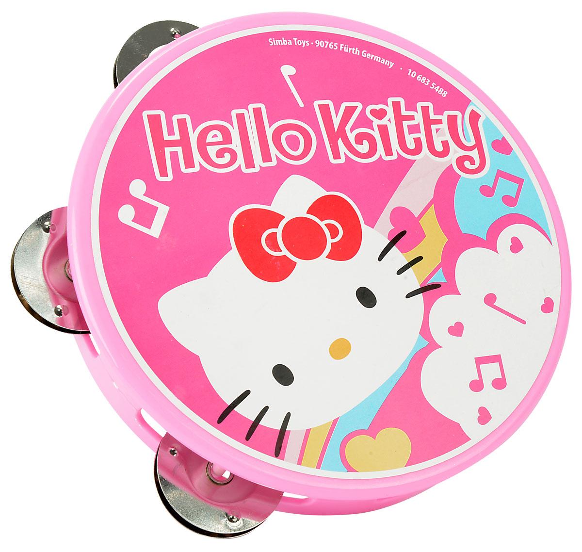 Simba Тамбурин Hello Kitty6835488Тамбурин Simba Hello Kitty привлечет внимание малыша и позволит ему создать незабываемый концерт и удивить друзей и близких. Выполнена игрушка из прочного и безопасного материала с изображением милой кошечки Китти. При ударе в тамбурин четыре пары металлических тарелочек издают приятный мелодичный звук. Игра с тамбурином поможет развить звуковое восприятие, слух, моторику рук, хватательные рефлексы и воображение, а также весело провести время.