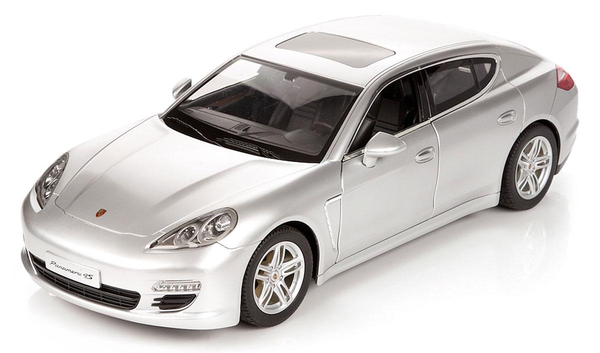 Rastar Радиоуправляемая модель Porsche Panamera цвет серебристый масштаб 1:1052400_серебристыйРадиоуправляемая модель Rastar Porsche Panamera станет отличным подарком любому мальчику! Все дети хотят иметь в наборе своих игрушек ослепительные, невероятные и крутые автомобили на радиоуправлении. Тем более, если это автомобиль известной марки с проработкой всех деталей, удивляющий приятным качеством и видом. Одной из таких моделей является автомобиль на радиоуправлении Rastar Porsche Panamera. Это точная копия настоящего авто в масштабе 1:10. Передние двери машины открываются. Возможные движения: вперед, назад, вправо, влево, остановка. Имеются световые эффекты. Пульт управления работает на частоте 27 MHz. Игрушка работает на сменном аккумуляторе (входит в комплект). Для работы пульта управления необходима батарейка 9V (6F22) (не входит в комплект).